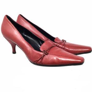 BCBG Paris Women's Shoes Sz Us 9.5 Burgundy Heels